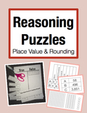 Reasoning Puzzles (Place Value): Activities to Engage in Math Talk (Gr. 3-4)