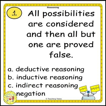 Reasoning Task Cards