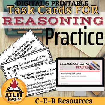 Reasoning Task Cards (C-E-R Practice)