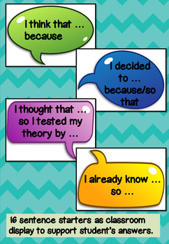 Reasoning and Explaining number task cards and posters