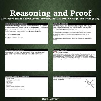 Reasoning and Proof Unit Pack