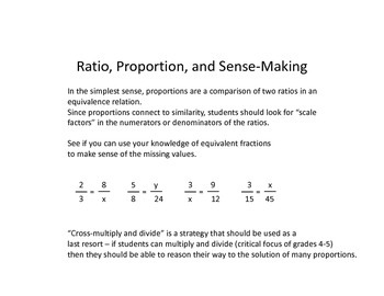 Common Core Math Grade 6 Reasoning and Proportional Thinking