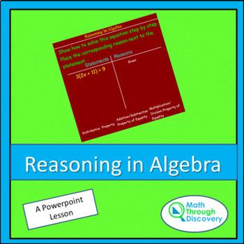 Reasoning in Algebra - PPT