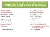 Reasoning with Properties from Algebra