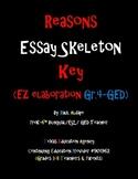 Reasons Essay Skeleton Key (EZ elaboration Gr.4-GED)