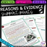 Reasons & Evidence Support Points- 4th & 5th Grade RI.4.8-RI.5.8