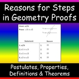 Reasons For Steps in Geometry Proofs: Definitions, Theorem