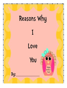 Reasons Why I Love You/Mother's Day Book