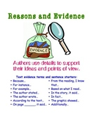 Reasons and Evidence Poster