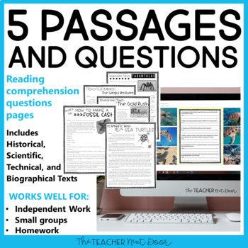 Text Evidence Using Informational Text | Text Evidence Activities