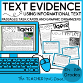 Text Evidence Using Informational Text Print and Digital Distance Learning