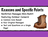 Reasons and Specific Points Nonfiction Passages with Outdo