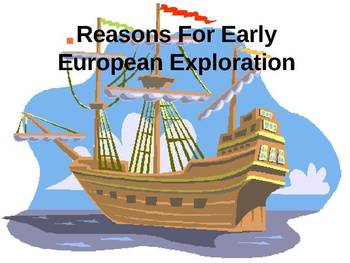 Reasons for Early European Exploration