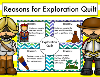 Reasons for Exploration Quilt: Age of Exploration