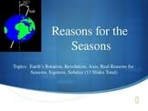 Reasons for Seasons PowerPoint