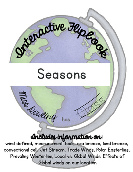 Reasons for Seasons Flipbook & Interactive Notebook