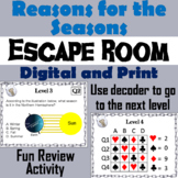 Reasons for the Seasons Activity: Science Escape Room