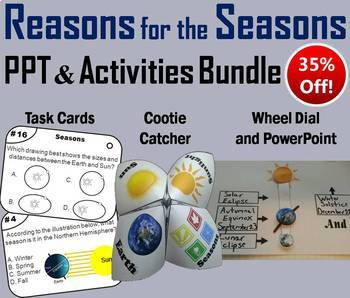Reasons for the Seasons Task Cards, PowerPoint and Activit