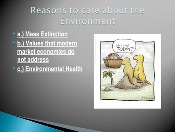 Reasons to Care about the Environment: Power Point Presentation