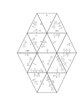 Reassemble Puzzle for Rational Equations