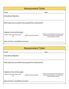 Reassessment Ticket