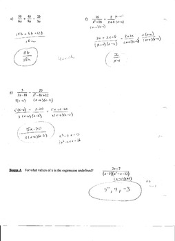 Reational Expressions Test (Quiz)RationalRational