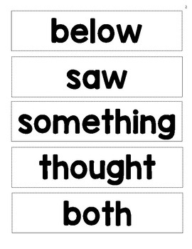 Rebecca Sitton - Level 3 - Large Core Word Collection - Rectangles