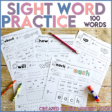 Rebecca Sitton First 100 Sight Word Practice (100 WORDS) Distance Learning