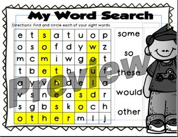 Rebecca Sitton Sight Words - Spelling- Word Search Collection