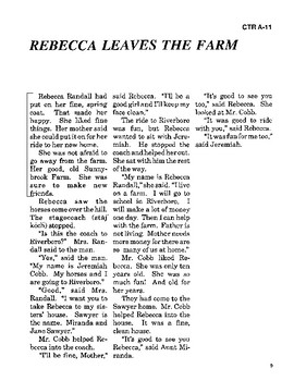 Rebecca of Sunnybrook Farm Read-along with Activities and Narration