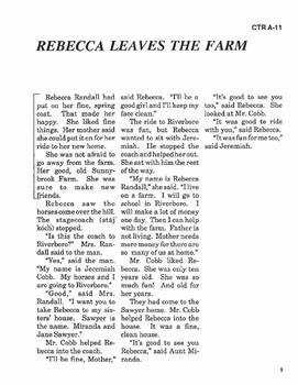 Rebecca of Sunnybrook Farm RL 1-2 Adapted and Abridged Novel
