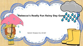 "Rebecca's Rainy Day Game ""R"""