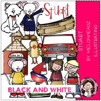 Rebecca's Stuart bundle by Melonheadz BLACK AND WHITE