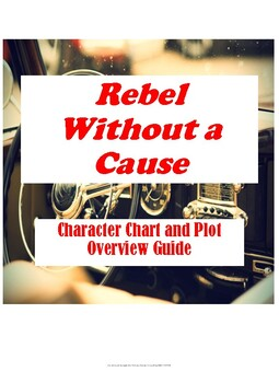Rebel Without a Cause Character Chart and Plot Overview Questions