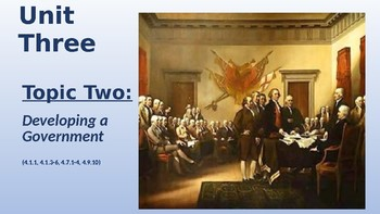 Rebellion to Revolution (The American Revolution) & Developing a Government