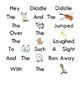 Rebus Nursery Rhymes