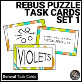 Rebus Puzzle Visual Brainteaser Task Cards - Set 1