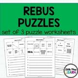 Rebus Puzzle Worksheets