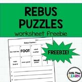 Rebus Puzzle Worksheet FREEBIE