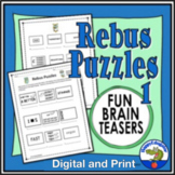 Rebus Puzzles 1 TPT Digital Activity Distance Learning