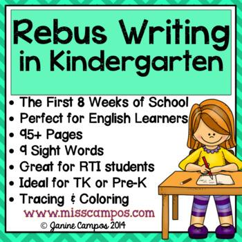 Rebus Writing in Kindergarten