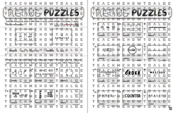 "Rebus ""Wuzzle"" Puzzle Worksheet 11 - teachmehowtoALGE"