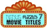"Rebus ""Wuzzle"" Puzzle Worksheet 7 - LET'S GO TO THE MOVIES EDITION"