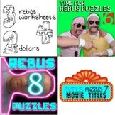 "Rebus ""Wuzzle"" Puzzle Worksheet BUNDLE (WORKSHEETS 6, 7, & 8)"