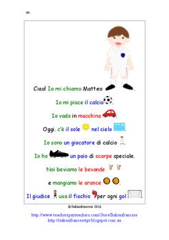 Rebus texts in Australian Curriculum F to Year 2 in Italia