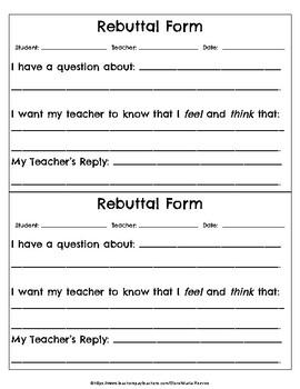 Rebuttal Form