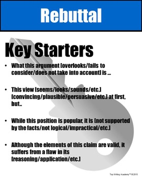 Rebuttal Starters Poster