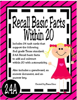 Recall Basic Facts Within 20 (TEKS 2.4A)