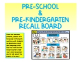 Recall Board for Pre-K and Toddler Language Development an