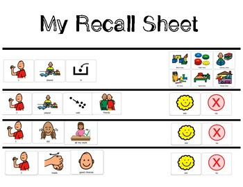Recall Sheet/Self Evaluation